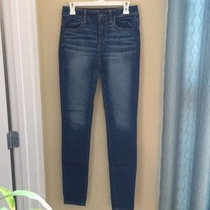 american eagle super skinny jeans size 6 long